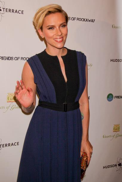 Johansson se presentó a la segunda edición de la Gala Champions of Rocka...