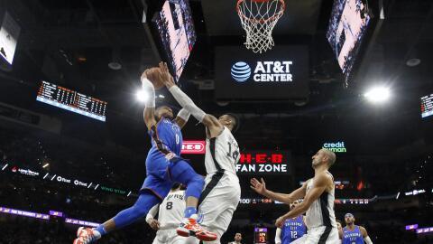 Spurs y Thunder estarán en los playoffs de la NBA 2018.