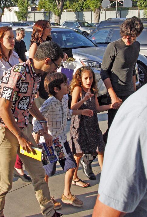 Los gemelos Max y Emme, hijos de Jennifer López y Marc Anthony, iban jun...