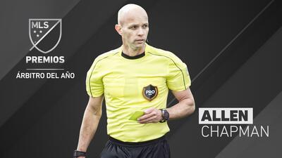 Allen Chapman es el Árbitro del Año en la MLS.