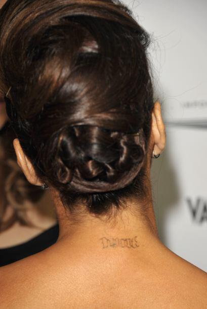 Finalmente tenemos a la bella Eva Longoria, quien tenía tatuajes en su c...