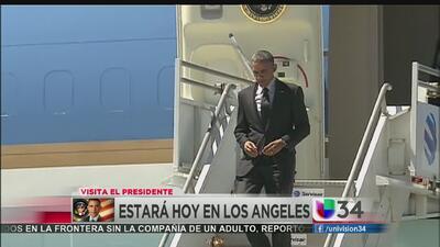 Visita de Obama genera caos vial LA