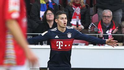Con golazo de James, Bayern Múnich sigue imparable en la Bundesliga