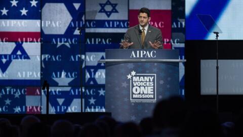 El presidente de la Cámara de Representantes, Paul Ryan, se dirig...