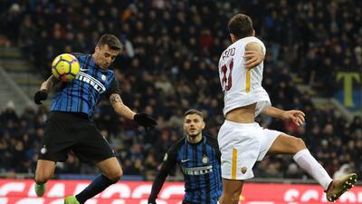 El Inter y el Roma empataron 1-1 en San Siro.
