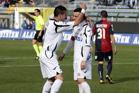 En el último triunfo del cuadro de Udine, Di Natale marcó dos goles más...