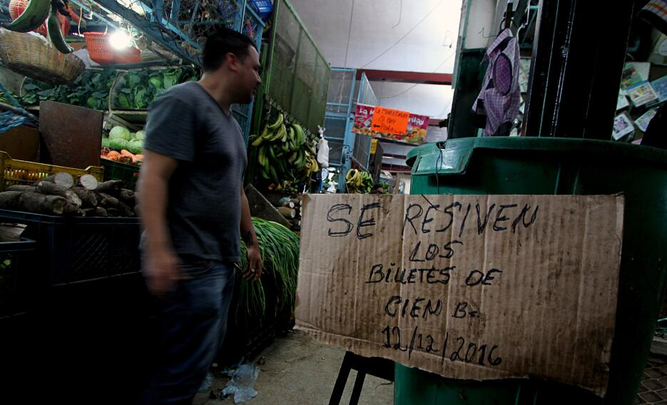Un día después del anuncio, el Banco Central de Venezuela no había ofrec...