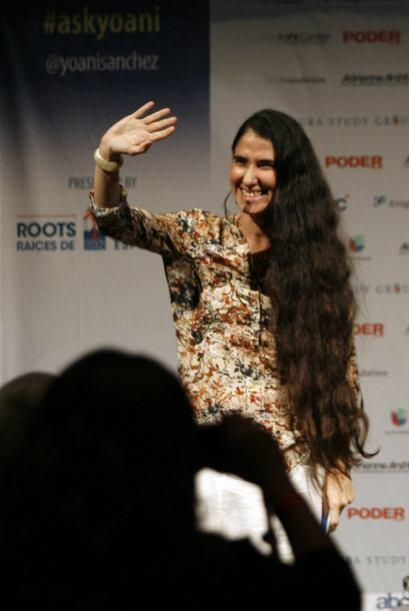 Yoani habló de la situación en Cuba y de la tecnología.