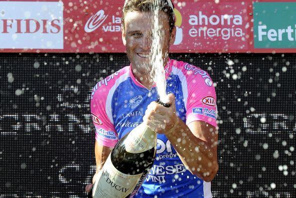 El ciclista italiano Alessandro Petacchi del equipo Lampre-Farnese, logr...