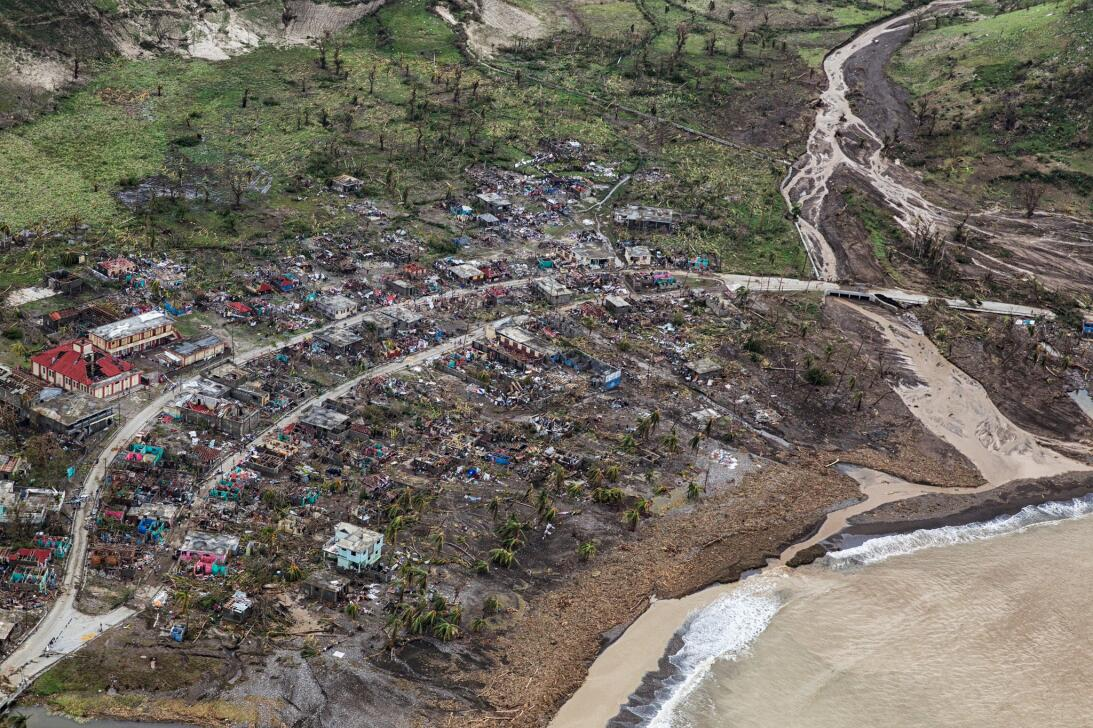 Small towns along the western coast of Haiti suffered extreme damage fro...