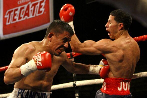 Arroyo recibió un buen golpe en el primer asalto, pero después dominó en...