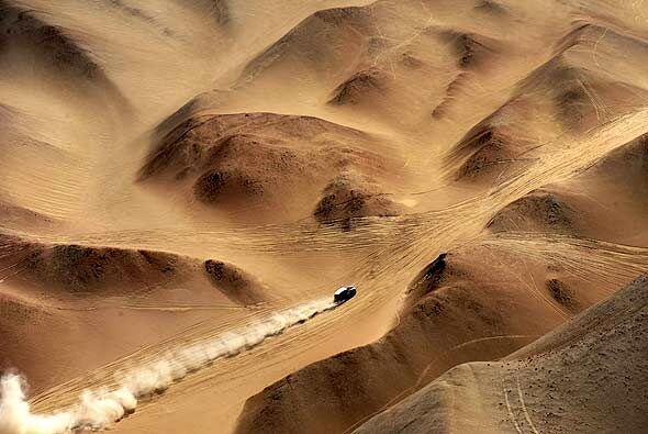 El desierto de Atacama fue un escollo dificil para todos los pilotos.