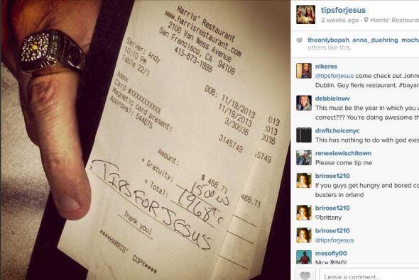 El el Restaurante Harris, de San Francisco, dejó una propina de $1500. S...