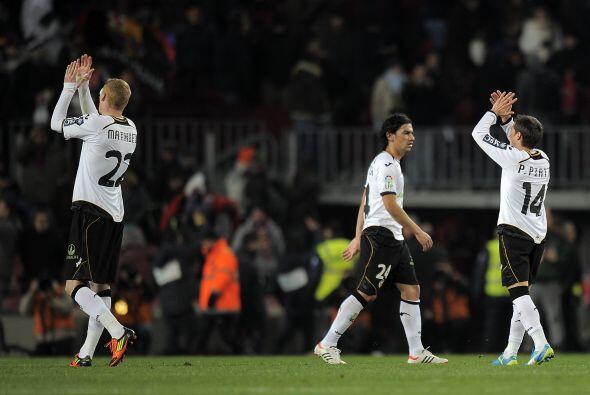 Eso no evitó que la gente reconociera el esfuerzo del Valencia.