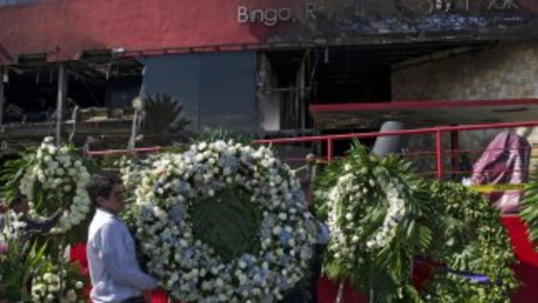 A un año de la tragedia en elCasino Royale en Nuevo León, norte de México.