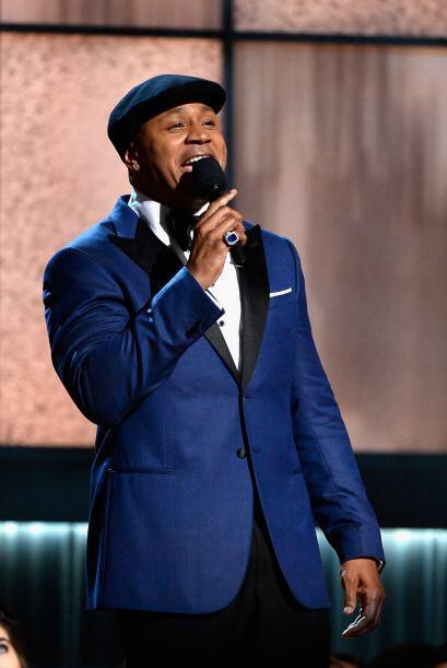 LL Cool J fungió como uno de los presentadores de la noche de los GRAMMY.