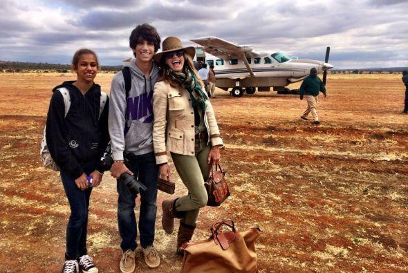 Lili se preparó para conocer la zona del Ngorongoro.