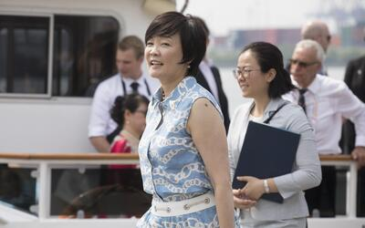 La primera dama japonesa Akie Abe quien según Donald Trump no le...