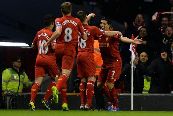 Luis Suárez empezaba a sumar goles desde los primeros 15 minutos...