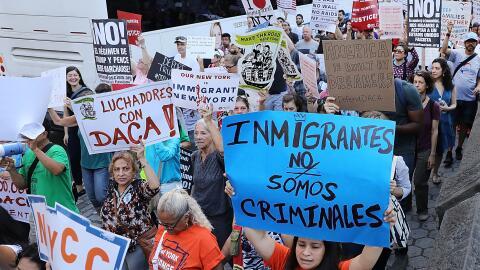 Marcha contra la cancelación de DACA a finales de agosto en Nueva...