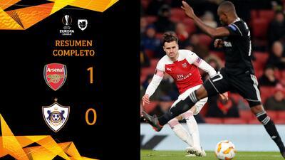Arsenal 1-0 Qarabag - RESUMEN Completo- Grupo E - UEFA Europa League