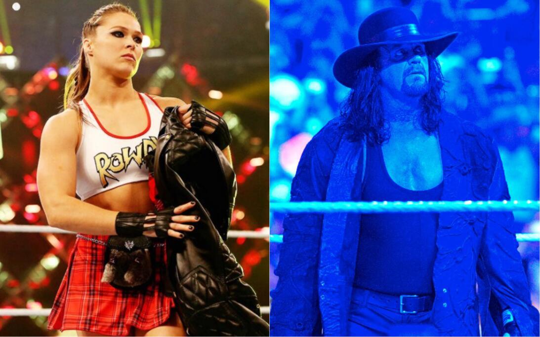 Ronda Rousey y Undertaker: íconos del Wrestlemania de WWE en 2018 wrestl...