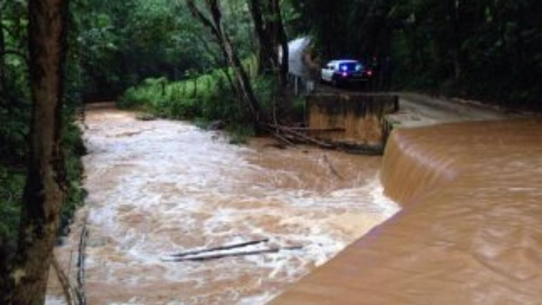 En ocasiones el río Tanamá se sale de su cauce en eventos de lluvias fue...