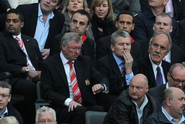El técnico de los 'Red Devils', Sir Alex Ferguson, ya se marchaba de las...