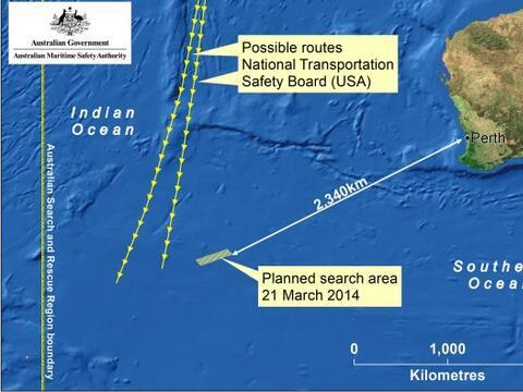Las autoridades australianas indicaron que la búsqueda con radare...