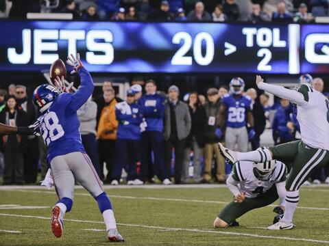 Los New York Jets vencieron 23 - 20 a los New York Giants en dram&aacute...
