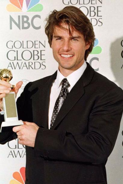 Tom Cruise en 1995, justo cuando recibió uno de los premios. Debe...