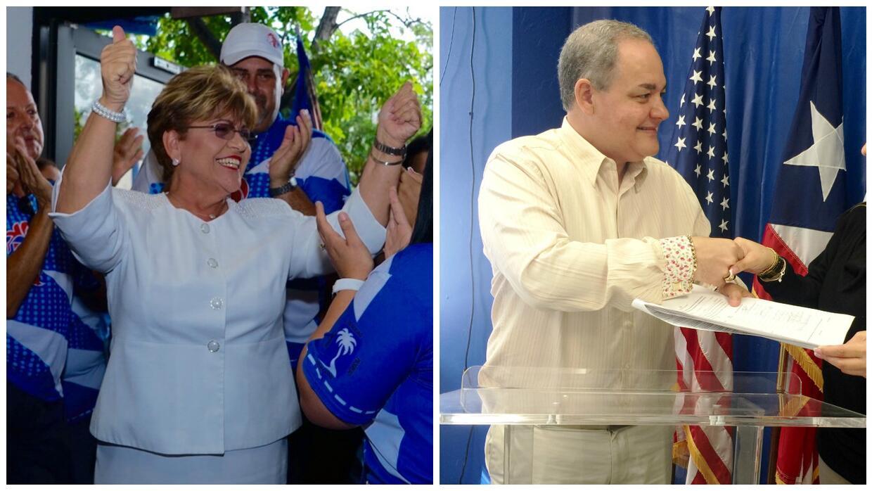 """Candidatos a la alcaldía de Ponce por el PNP: """"Mayita"""" Meléndez y """"Tato""""..."""