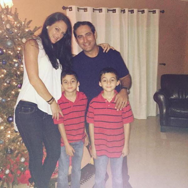 René Lavan y su familia