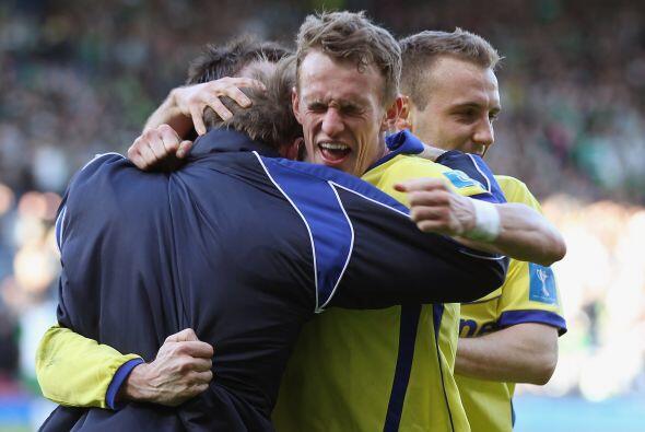 El júbilo de los jugadores del Kilmarnock fue evidente, vaya t&ia...