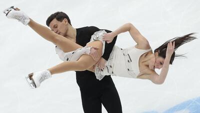 Espectaculares movimientos de patinaje artístico en Rusia