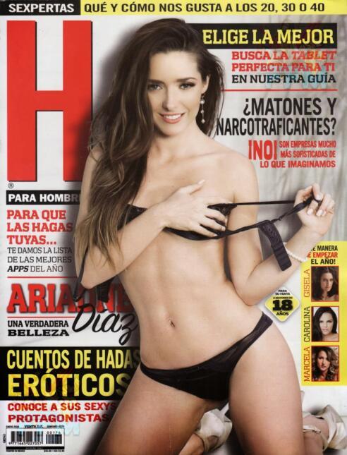 Ariadne Díaz mostró su figura en la revista H para hombres en enero de 2...