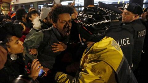 Protestas pacíficas raciales en Chicago