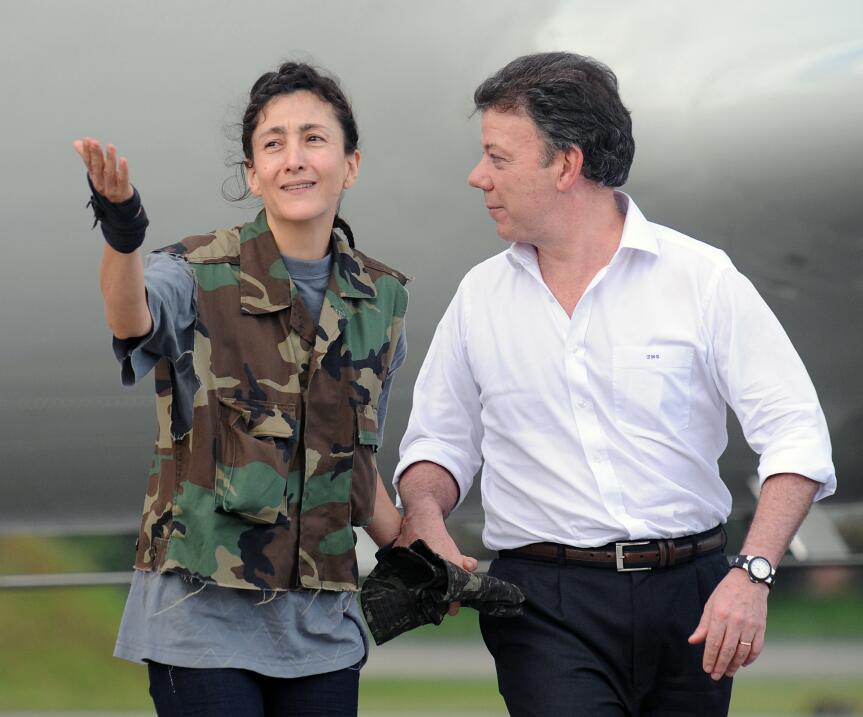 Ingrid Betancout y Juan Manuel Santos