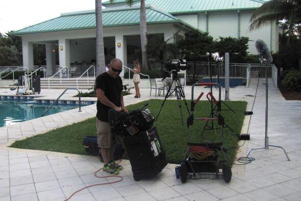 Un gran equipo técnico se necesitó para grabar este divertido programa.