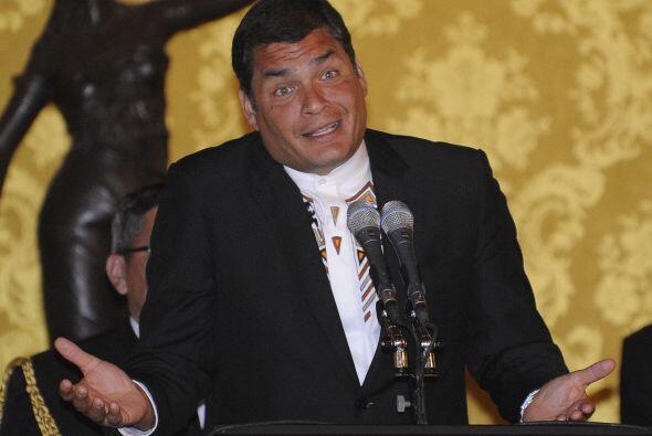 Temperamental y carismático, Correa llegó a la presidencia...