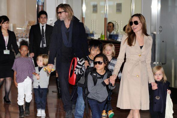 Brad Pitt y Angelina tienen seis bellos hijos, tres de ellos biológicos...