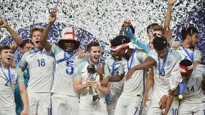 La fiesta de Inglaterra, campeón del Mundial Sub-20 en Corea del Sur