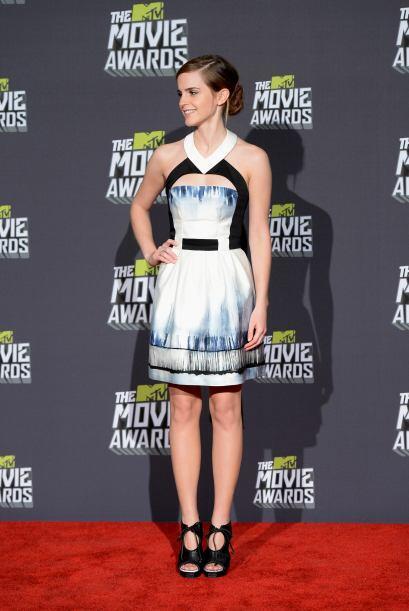 Aquí 'Hermione' optó por llevar unos zapatos más ll...