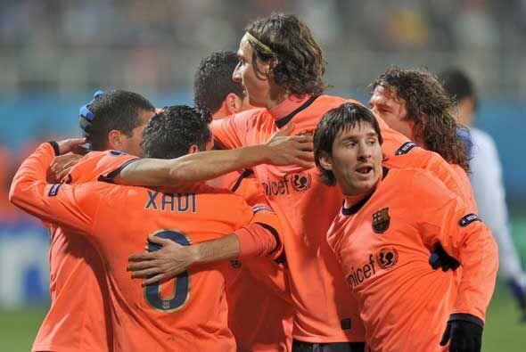 El Barcelona terminó primero de su grupo en la defensa del título de la...