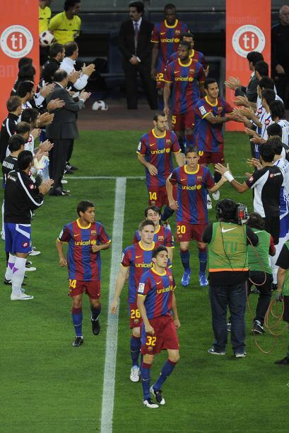 El cuadro coruñés le hizo el pasillo de honor al Barça, pues ya es campe...