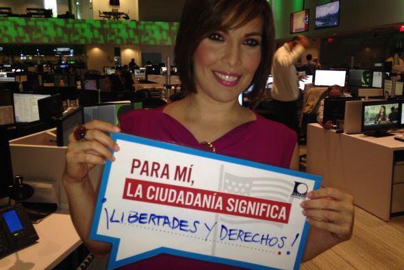 Para Lucía Burga reportera  de Primer Impacto la ciudadanía significa ¡L...