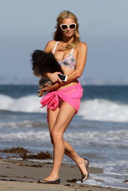 A Paris Hilton la vimos en Malibú.
