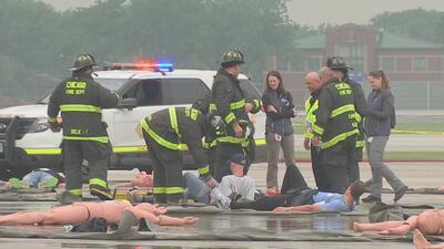 Agencias federales y estatales lideraron simulacro de prevención de emergencias en aeropuerto de Chicago