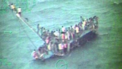 Barco cargado de inmigrantes haitianos naufragó en las Bahamas