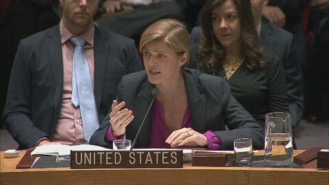 Samantha Power justifica la decisión de EEUU de no vetar resolución de l...